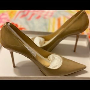 Jimmy Choi Abel Patent Nude Size 37